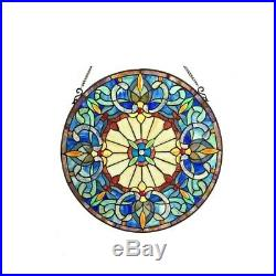 Tiffany Style Handcrafted Stained Glass Window Panel 22 Round ONE THIS PRICE