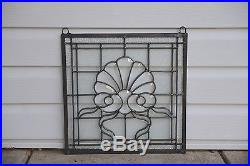 Tiffany Style stained glass Clear Beveled window panel, 16.75 x16.5