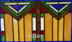 Tiffany Style stained glass window panel Mission style panel, 34.5W x 20.5H