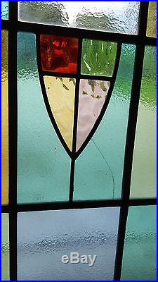 Vintage 1930's Stained Glass Casement Windows with Gorgeous Colors! Great Shape