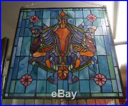 Vintage Antique Style Stained Glass Panel (09256)NS