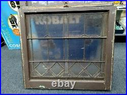 Vtg Antique Double Hung Wood Stained Glass Windows 31-3/8×56x1.5 Architectural