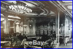 White Star Line Rms Olympic 1st CL Lounge Monumental Stained Glass Window C-1911