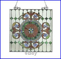 Window Panel Victorian Design Stained Glass 25 x 25 LAST ONE THIS PRICE